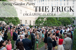 LOLA Wines Spring Garden Party at the Frick Collection New York
