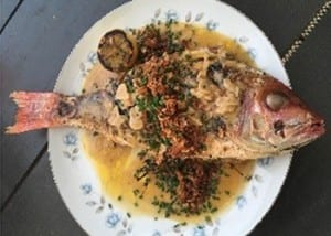 Whole Fish w. Bottarga Butter